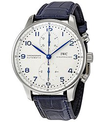 IWC Portuguese Chrono Automatic Steel Blue Men's Watch