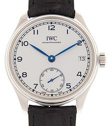 IWC Portuguese Hand Wind White Dial Men's Watch