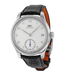 IWC Portuguese Hand Wound Eight Days Stainless Steel Men's Watch