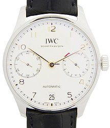 IWC Portuguese Stainless Steel Silver Automatic IW500704