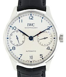 IWC Portuguese Stainless Steel Silver Automatic IW500705