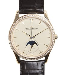Jaeger-LeCoultre Master Ultra Thin 18kt Rose Gold & Diamonds Beige Automatic Q1362501