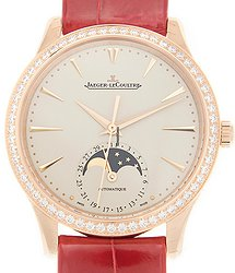 Jaeger-LeCoultre Master Ultra Thin 18kt Rose Gold & Diamonds White Automatic Q1252501