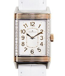 Jaeger-LeCoultre Reverso 18kt Rose Gold & Diamonds Silver Manual Wind Q3224420
