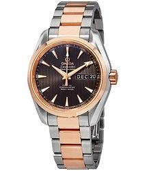 Omega Aqua Terra Annual Calendar Automatic Chronometer Grey Dial Men's Watch