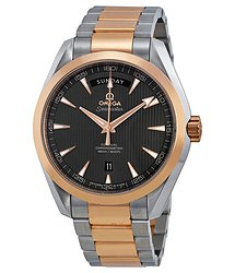Omega Aqua Terra Brown Dial Steel and 18kt Rose Gold Automatic Men's Watch 23120422206001