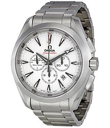 Omega Aqua Terra White Dial Chronograph Automatic Men's Watch 23110445004001
