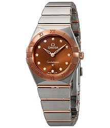 Omega Constella Sun-brushed Brown Diamond Dial Ladies Watch