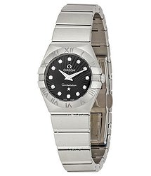 Omega Constellation 09 Black Dial Ladies Watch 12310246051001