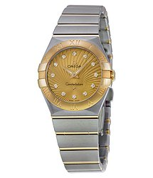 Omega Constellation 09 Champagne Dial Ladies Watch