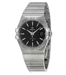 Omega Constellation 09 Quartz Black Dial Men's Watch