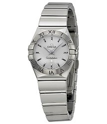 Omega Constellation 09 Silver Dial Stainless Steel Ladies Watch