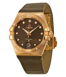 Omega Constellation 18kt Rose Gold Brown Dial Ladies Watch 12353356063001