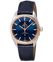 Omega Constellation Automatic Blue Dial Blue Leather Men's Watch