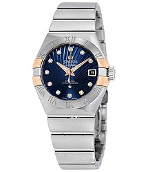Omega Constellation Automatic Blue Dial Ladies Watch