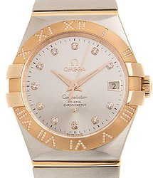 Omega Constellation Automatic Chronometer Diamond Silver Dial Ladies Watch