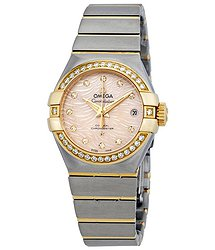 Omega Constellation Automatic Coral Dial Ladies Watch