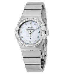 Omega Constellation Automatic Mother of Pearl Dial Ladies Watch 12315272055003