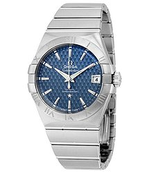 Omega Constellation Blue Dial Stainless Steel Automatic Men's Watch