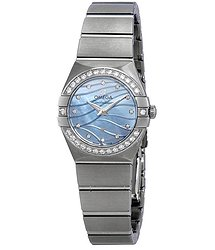 Omega Constellation Blue Mother-Of-Pearl Dial Ladies Watch