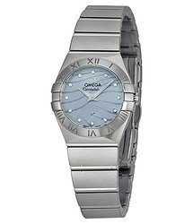 Omega Constellation Blue Mother of Pearl Dial Stainless Steel Ladies Watch