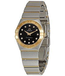Omega Constellation Brown Diamond Dial Ladies Watch