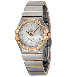 Omega Constellation Brushed Diamond Ladies Watch