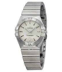 Omega Constellation Brushed Steel Ladies Watch