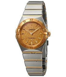 Omega Constellation Champagne Dial Ladies Steel and 18K Yellow Gold Watch