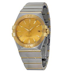 Omega Constellation Champagne Dial Stainless Steel and Yellow Gold Ladies Watch