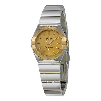 Купить часы Omega Constellation Champagne Dial Yellow Gold and Stainless Steel Ladies Watch  в ломбарде швейцарских часов