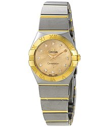 Omega Constellation Champagne Mother of Pearl Dial Ladies Watch