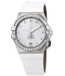 Omega Constellation Co-Axial Automatic Chronometer Diamond White Mother of Pearl Dial Ladies Watch
