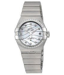 Omega Constellation Co-Axial Mother of Pearl Dial Ladies Watch