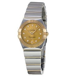 Omega Constellation Diamond Champagne Dial Ladies Watch