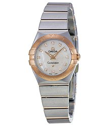 Omega Constellation Diamond Mother of Pearl Dial Ladies Watch