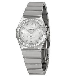 Omega Constellation Diamond Mother of Pearl Dial Stainless Steel Ladies Watch