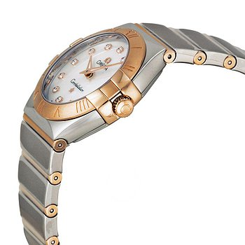 Купить часы Omega Constellation Diamond Mother of Pearl Dial Steel and Rose Gold Ladies Watch  в ломбарде швейцарских часов