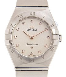 Omega Constellation Manhattan Diamond Silver Dial Ladies Watch