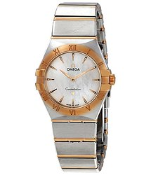 Omega Constellation Manhattan Ladies Steel and 18kt Yellow Gold Watch