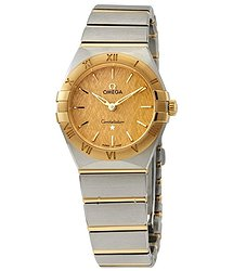 Omega Constellation Manhattan Quartz Champagne Dial Ladies Watch