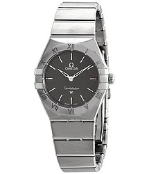 Omega Constellation Manhattan Quartz Grey Dial Ladies Watch
