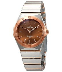 Omega Constellation Manhattan Sun-brushed Brown Dial Ladies Watch