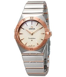 Omega Constellation Manhattan White Silvery Dial Ladies Watch