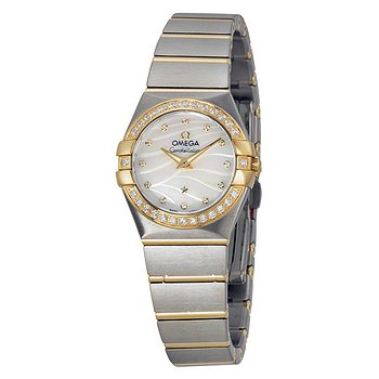 Купить часы Omega Constellation Mother of Pearl Dial Steel and Yellow Gold Diamond Ladies Watch 12325246055011  в ломбарде швейцарских часов