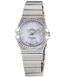 Omega Constellation Mother of Pearl Diamond Dial Ladies Watch 123-15-27-60-55-001