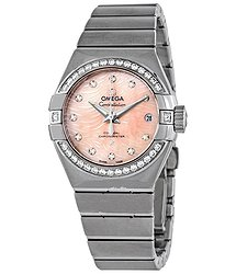 Omega Constellation Pink Mother of Pearl Diamond Dial Automatic Ladies Watch