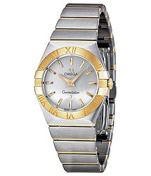Omega Constellation Quartz Silver Dial Ladies Watch