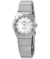 Omega Constellation Quartz White Dial Ladies Watch