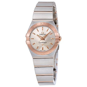 Купить часы Omega Constellation Silver Dial Stainless Steel and 18K Rose Gold Ladies Watch  в ломбарде швейцарских часов